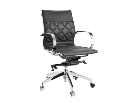 Lider Collection CB-O113-BL Office Chair with Hydraulic Mechanism  Casters  Modern Style  Commercial Grade  Chrome Metal Frame and Eco-Leather Upholstery in