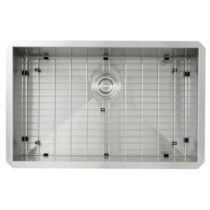 Pro Series ZR2818-8-16 28 Large Rectangle Single Bowl Undermount Zero Radius Stainless Steel Kitchen Sink  8 Inch