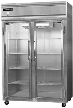 2RS-GD 52 inch  Reach-In Refrigerator with 2 Section  in Stainless