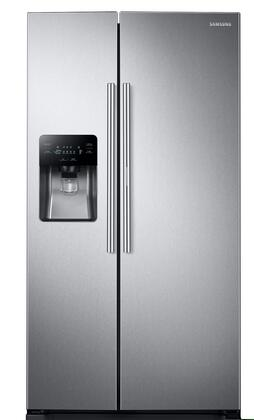 "RH25H5611SR 36"" Side By Side Food ShowCase Refrigerator with 24.5 cu. ft.  Metal Cooling  Twin Cooling Plus  External Water and Ice Maker  LED Lighting  and"