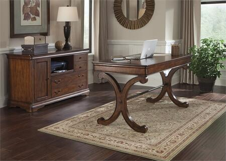 Brookview Collection 378-HO-CDS 2-Piece Home Office Set with Writing Desk and Credenza in Rustic Cherry
