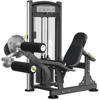E-5077 Titanium Series 9307 Seated Leg Curl Machine with 200 lbs. Incremental Weight Stack  Military Grade Cables and High-Tech Oval Tubing in Black and