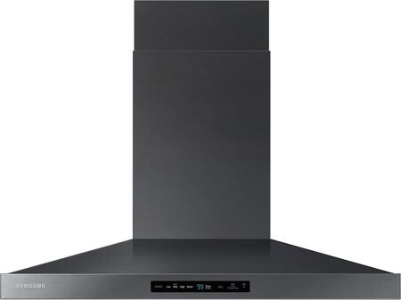 "NK36K7000WG 36"" Wall Mounted Range Hood with 600 CFM  LED Lighting  Baffle Filters and Hood Connectivity Wifi  in Black Stainless"
