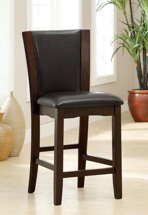 Manhattan III Collection CM3710PC-2PK Set of 2 Counter Height Chair with Padded Leatherette Seat and Flared Back in