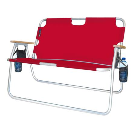 771724DH 44 inch  Tailgater - Two-Person Folding Aluminum Chair in