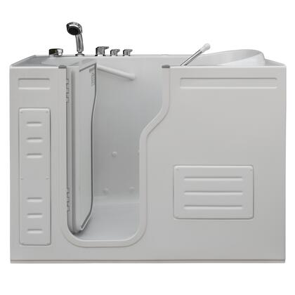 Aurora Hy-1223l 51w X 29.5d X 42h Inward Opening Accessible Walk-in Tub With Heated Air Jets And Left Hand Drain In