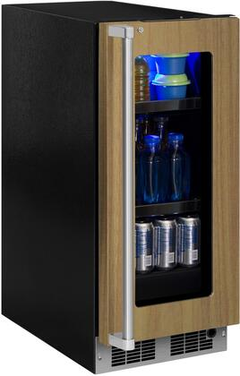 Marvel MP15BC4R 15 Wide 6-Bottle and 35-Can Built-in Beverage Center with LED L, Panel Ready Frame Glass Door