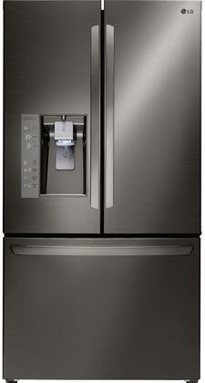 LG 24.0 Cu. Ft. Counter-Depth French Door Refrigerator Black Stainless Steel LFXC24726D