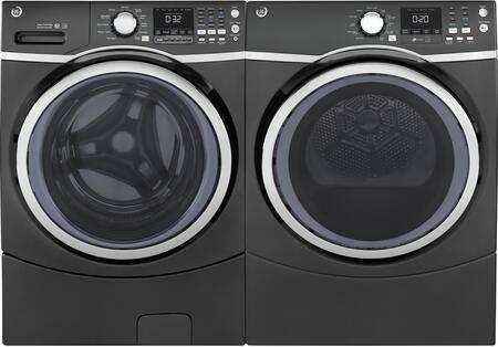 Front Load Steam GFW450SPMDG 27 Washer with GFD45GSPMDG 27 Gas Dryer Laundry Pair in