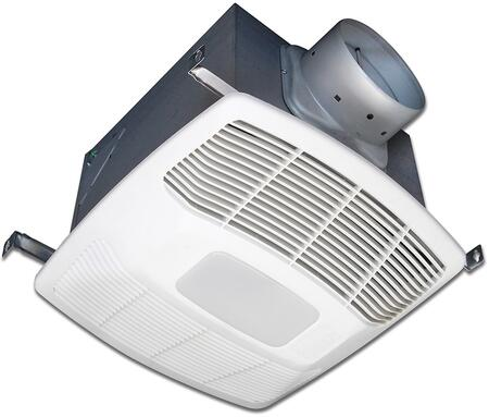 EF80DH Exhaust Fan with 2 Fan Speeds  23 Gauge Galvanized Steel Housing  Polymeric Grill  and Humidity Sensor in