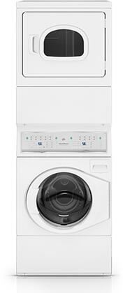 ATGE9AG Gas Stacked Washer/Dryer with 9 Washer Cycles  7 Dryer Cycles  4 Temperature Selections  Interior Light  Reversible Door and End of Cycle in