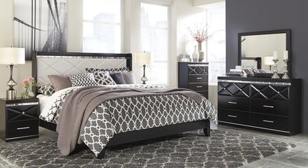 Fancee Queen Bedroom Set With Panel Bed  Dresser  Mirror  Chest And 2 Nightstands In