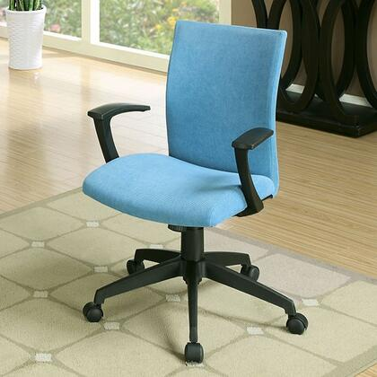 Crofter CM-FC635BL Office Chair with Swivel Bar Stool with Armrests  Fabric Seat  Height Adjustable in