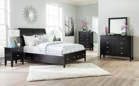 Braflin Queen Bedroom Set With Storage Panel Bed  Mirror  Dresser  2 Night Stands And Chest In