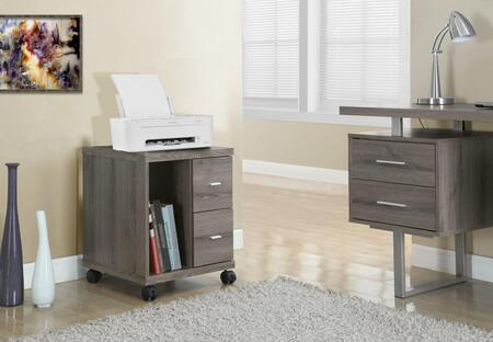 I 7056 Office Cabinet - Dark Taupe with 2 Drawers On