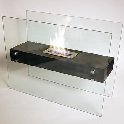 La Strada NF-F3LAA 31.5 inch  Vent Free Freestanding Bioethanol Fireplace with Tempered Glass Panels  Stainless Steel Burner and High Heat Powder Coated Base in
