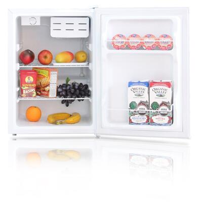 WHS-87L 2.4 CF. Compact Single Reversible Door Refrigerator with Convenient Racks  Wired Shelves  Separate Chiller Compartment and Mechanical Control with