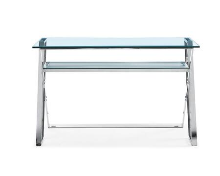DK1370 Novello Desk  Clear Glass  Stainless Steel