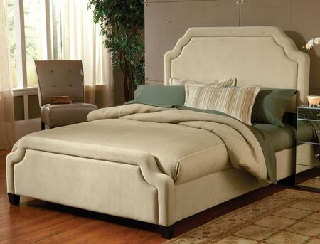 Carlyle 1566BCKRC California King Sized Bed with Headboard  Footboard and Rails and Fabric Upholstery in Buckwheat