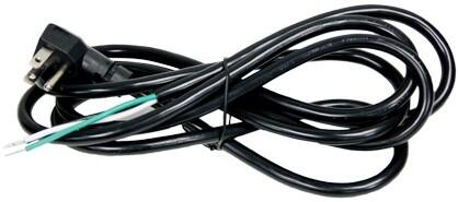 CORD-APCR8R9015A 8' Appliance Power Cord with 90 Degree Plug  15 Amps  125 Volts