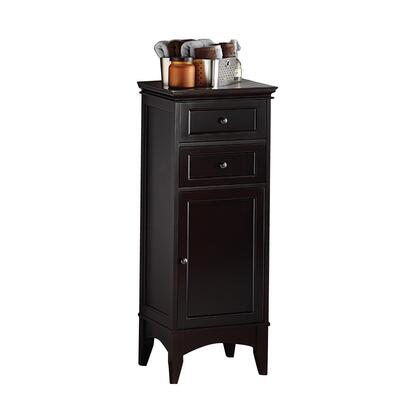 "BECS1743 17""""W x 43 1/2""""H Berkshire Collection Floor Cabinet with 2 Drawers in a Espresso"" 331566"