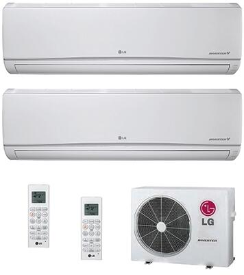 Dual Zone Mini Split Air Conditioner System with 30000 BTU Cooling Capacity  2 Indoor Units  and Outdoor 749422