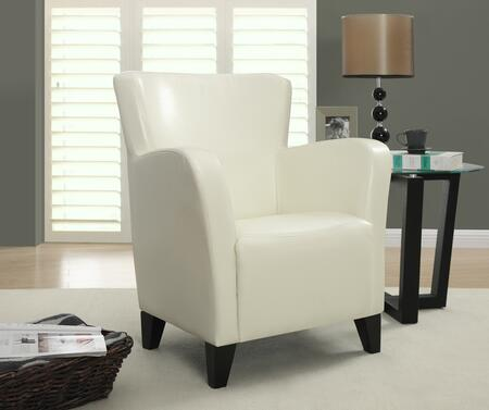 I 8069 Accent Chair - Ivory Leather-Look