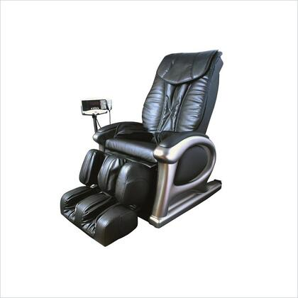 R600-BLK Massage Chair in Black Leather with Foot and Leg Massage and MP3