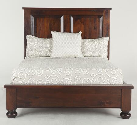 Chatham Downs Zwcado25 Queen Size Bed With Distressed Marks  Hand-turned Legs And Solid Mango Wood Construction In Brown