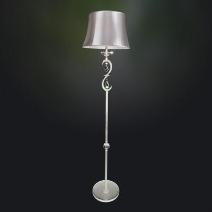 025290-017-SE001 Scarlatti 1-Light Floor Lamp Contemporary Style  120V in 2-Tone Silver