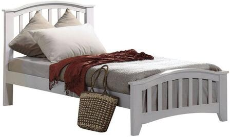San Marino Collection 09139F Full Size Size Bed with Slat System Included  Slatted Panel Headboard  Low Profile Footboard  Rubberwood and Paulownia