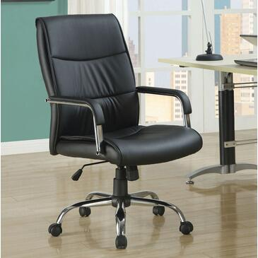 I 4290 Office Chair - Black Leather-Look
