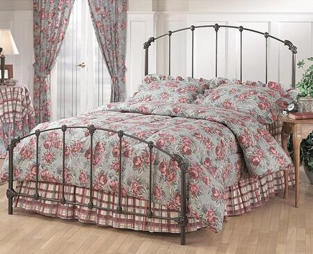 346BQR Bonita Queen Size Panel Bed Set with Rails Included  Timeless Style and Metal Construction in Copper Mist
