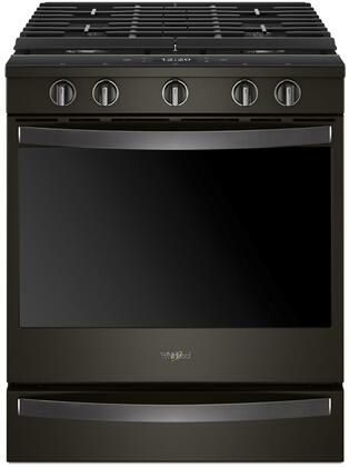 Whirlpool WEG750H0HV 30 5.8 Cu. Ft. Black Stainless Gas Range