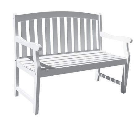 V1629 Bradley Eco-Friendly 4-Foot Outdoor Wood Garden Bench