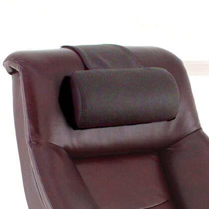 Oslo Collection CP-LO3-09 7 inch  Cervical Pillow with Adjustable Feature  Neck Support and Top Grain Leather Upholstery in Merlot