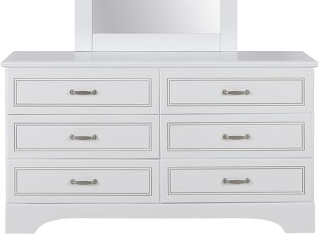 Claire Collection 67059 58 inch  Dresser with 6 Drawers  Metal Hardware  Medium-Density Fiberboard