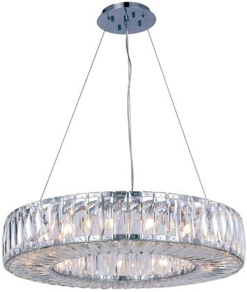 2116D26C/RC 2116 Cuvette Collection Chandelier D:26In H:5.11In Lt:15 Chrome Finish (Royal Cut