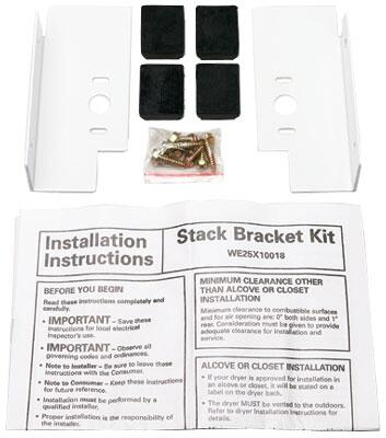 GEFLSTACK Washer And Dryer Stack Bracket