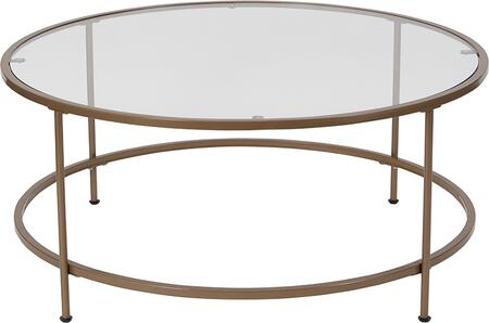 NAN-JN-21750CT-GG Astoria Collection Glass Coffee Table with Matte Gold