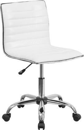 Flash Furniture DS-512B-WH-GG Mid-Back Armless White Ribbed Designer Task Chair