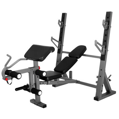 XM-4424 XMark International Olympic Weight Bench with Leg and Preacher Curl