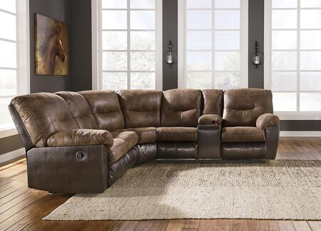 Leonberg Collection 37903-48-49 112 inch  2-Piece Sectional Sofa with Left Arm Facing Reclining Loveseat with Half Wedge and Right Arm Facing Reclining Console