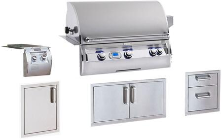 Grill Package with E790I4L1N Built In Natural Gas Grill  32814 Double Side Burner  53802SC Double Drawers  53938SC Double Access Doors  53920SC-SL Single