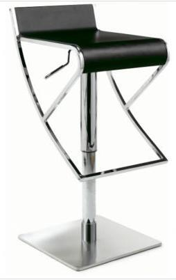 0815-AS-WHT Adjustable Swivel Stool with Rectangular Seat: White (Image shown is not