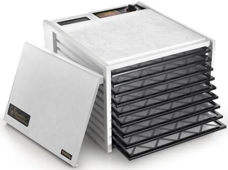 3900W Deluxe Series Dehydrator with 9 Trays  15 Sq. Ft. of Drying Area  Adjustable Thermostat  Preserve It Naturally Cookbook  and 10 Year Limited Warranty in: