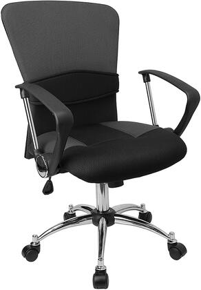 Click here for LF-W23-GREY-GG Mid-Back Grey Mesh Office prices