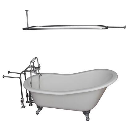 TKCTSN67-CP4 Tub Kit 67 CI Slipper  Shower Rd  Filler  Supplies