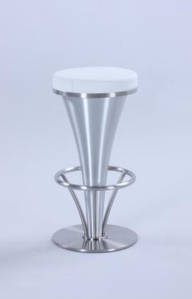 1671-BS-WHT 30-in  inch V inch  Pedestal Bar Stool in