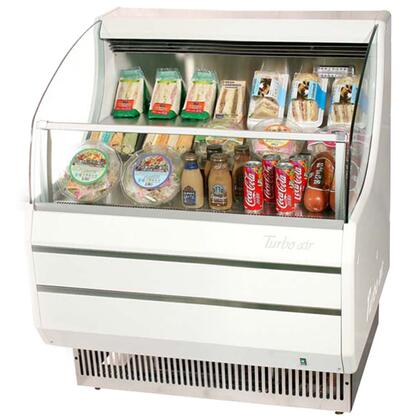 TOM30S 28 Open Display Merchandiser with Modern Design  Environmental Friendly Refrigeration System  Glass Sides  Anti-Rust Coating  High Density PU